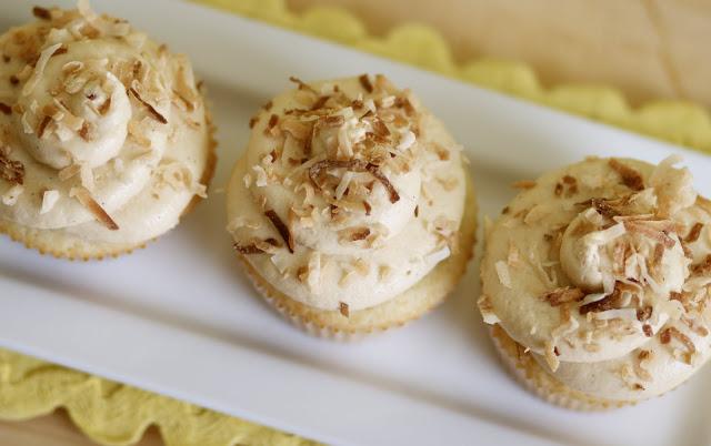 Vanilla Caramel Coconut Cupcakes