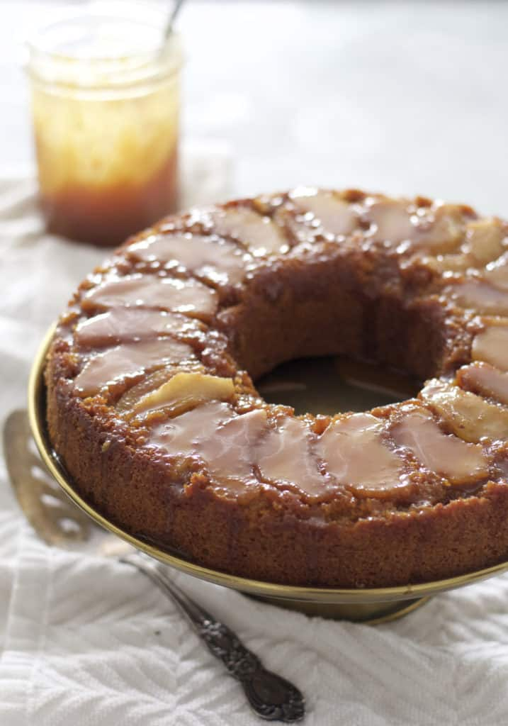 Caramel Apple Upside Down Cake