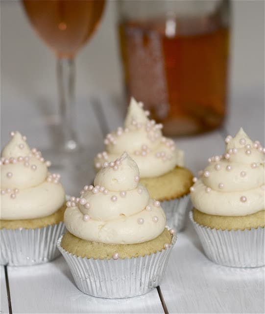 Champagne Cupcakes with Grapefruit Curd
