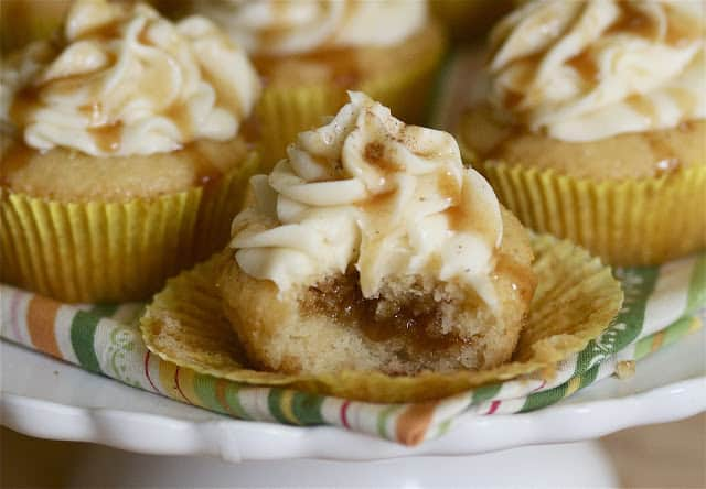 Bourbon Egg nog Cupcakes