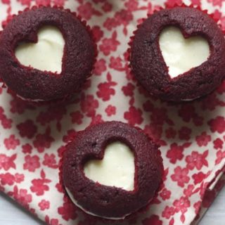 Red Velvet Sweetheart Cupcakes- The Baker Chick