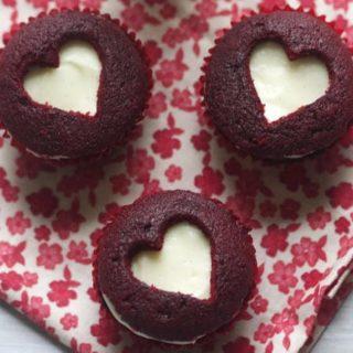 Red Velvet Sweetheart Cupcakes- The Baker Chick