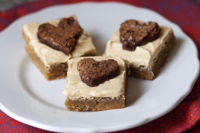 Chocolate Peanut Butter Heart Brownies- The Baker Chick