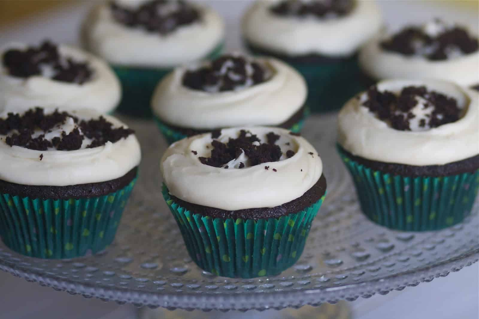 Come Home To Mama Chocolate Cake Recipe: Chocolate Guiniess Cupcakes With Bailey's Cream Cheese
