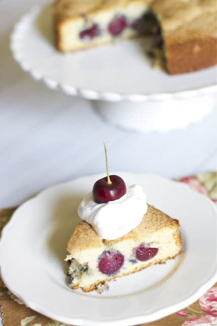 Sweet Cherry Buttermilk Cake