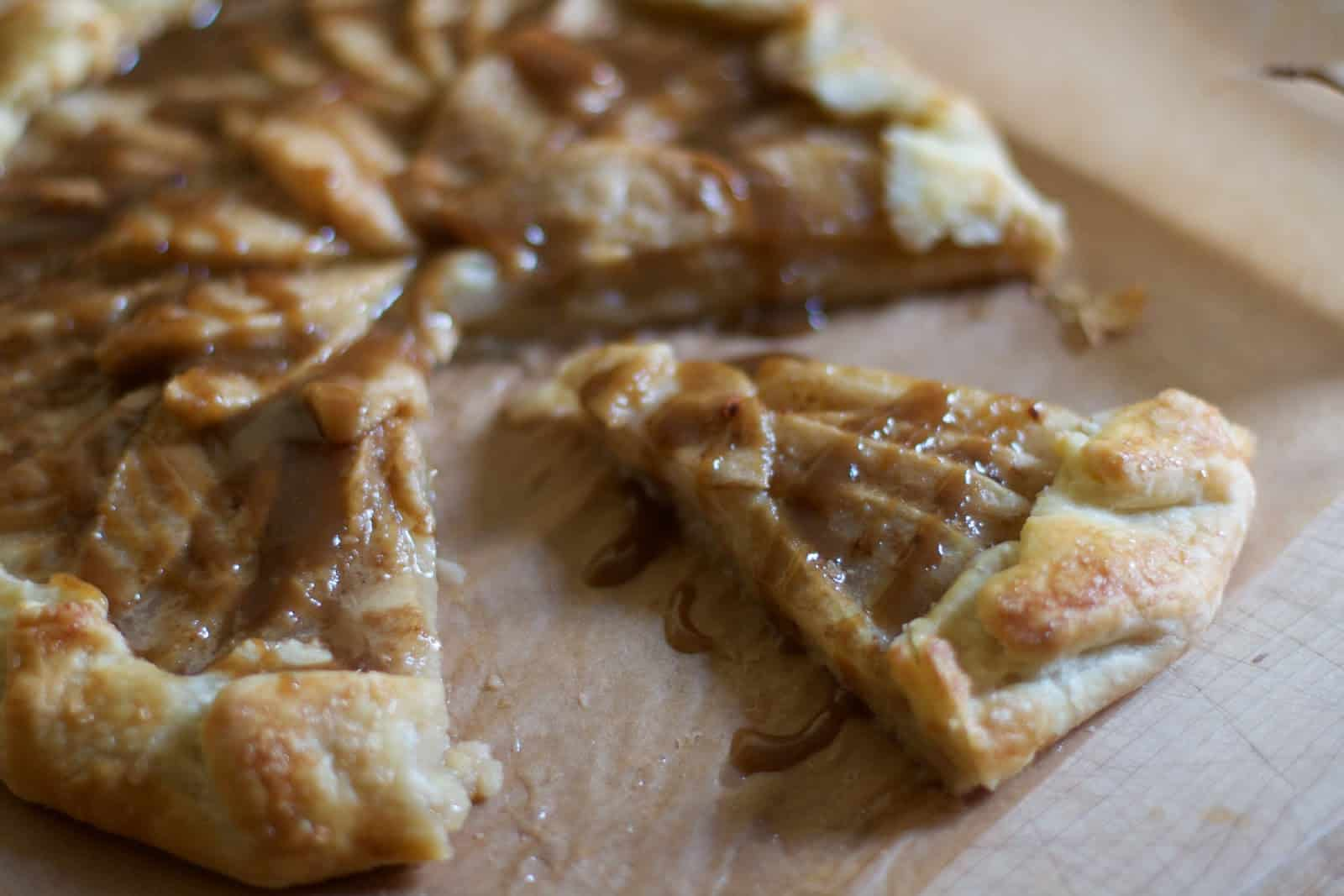 Toffee Pear Galette