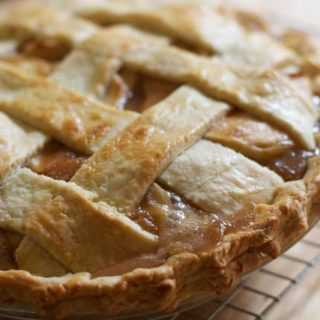 Salted Caramel Apple Pie- The Baker Chick