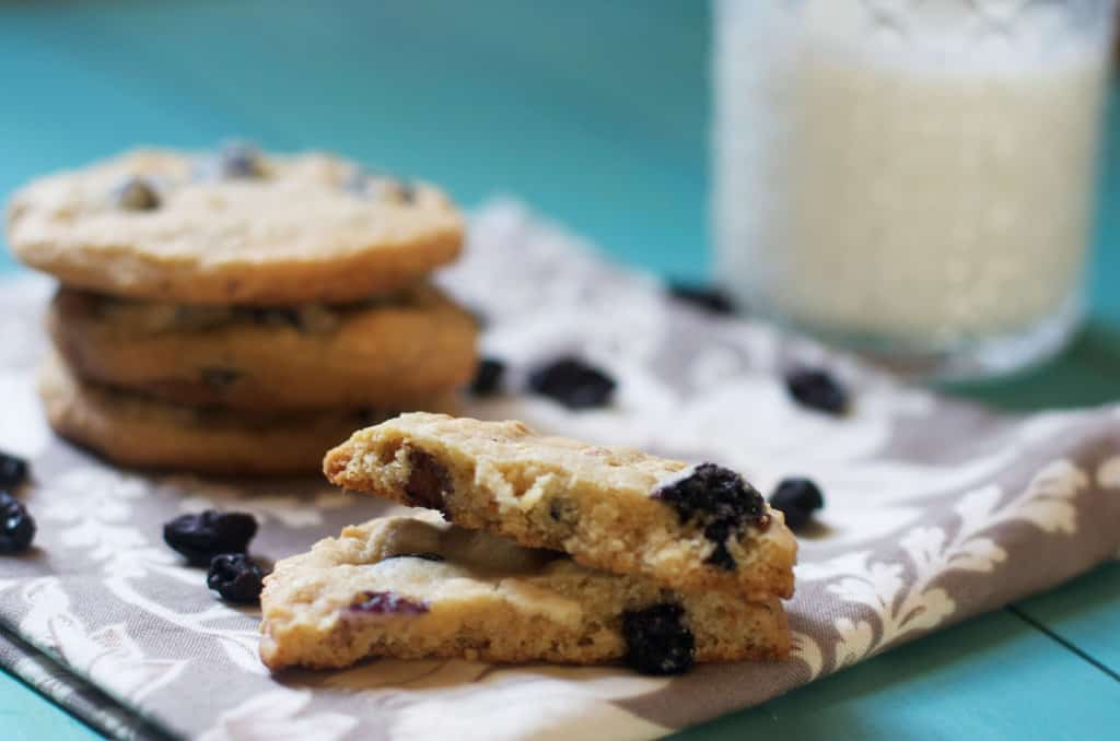 Blueberry & Cream Cookies- The Baker Chick