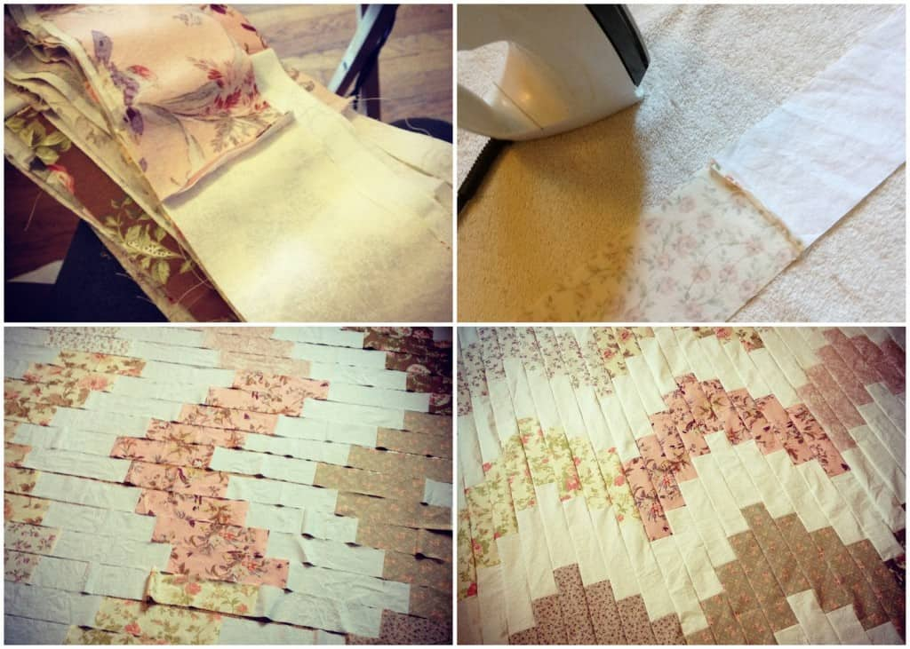 Behind the Blog  Wedding Napkin Quilt via The Baker Chick
