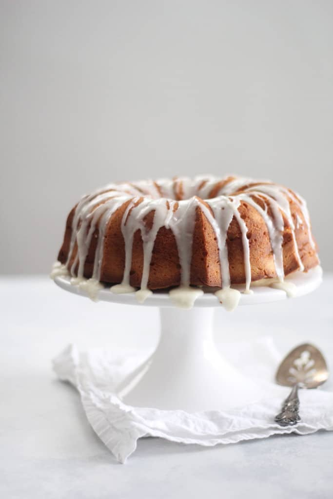 Cream Cheese Pound Cake with Vanilla Bean Glaze