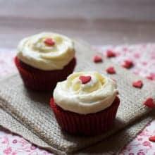 Red Velvet Cupcakes for Two