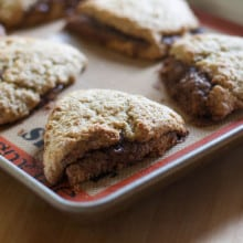 Cinnamon-filled Banana Bread Scones
