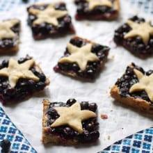 Star Spangled Blueberry Pie Bars