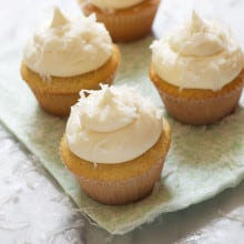 Creamy Coconut Cupcakes