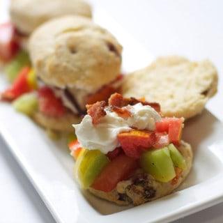 Heirloom Tomato Bacon Shortcakes