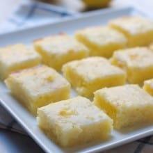 Gooey Lemon Blondies