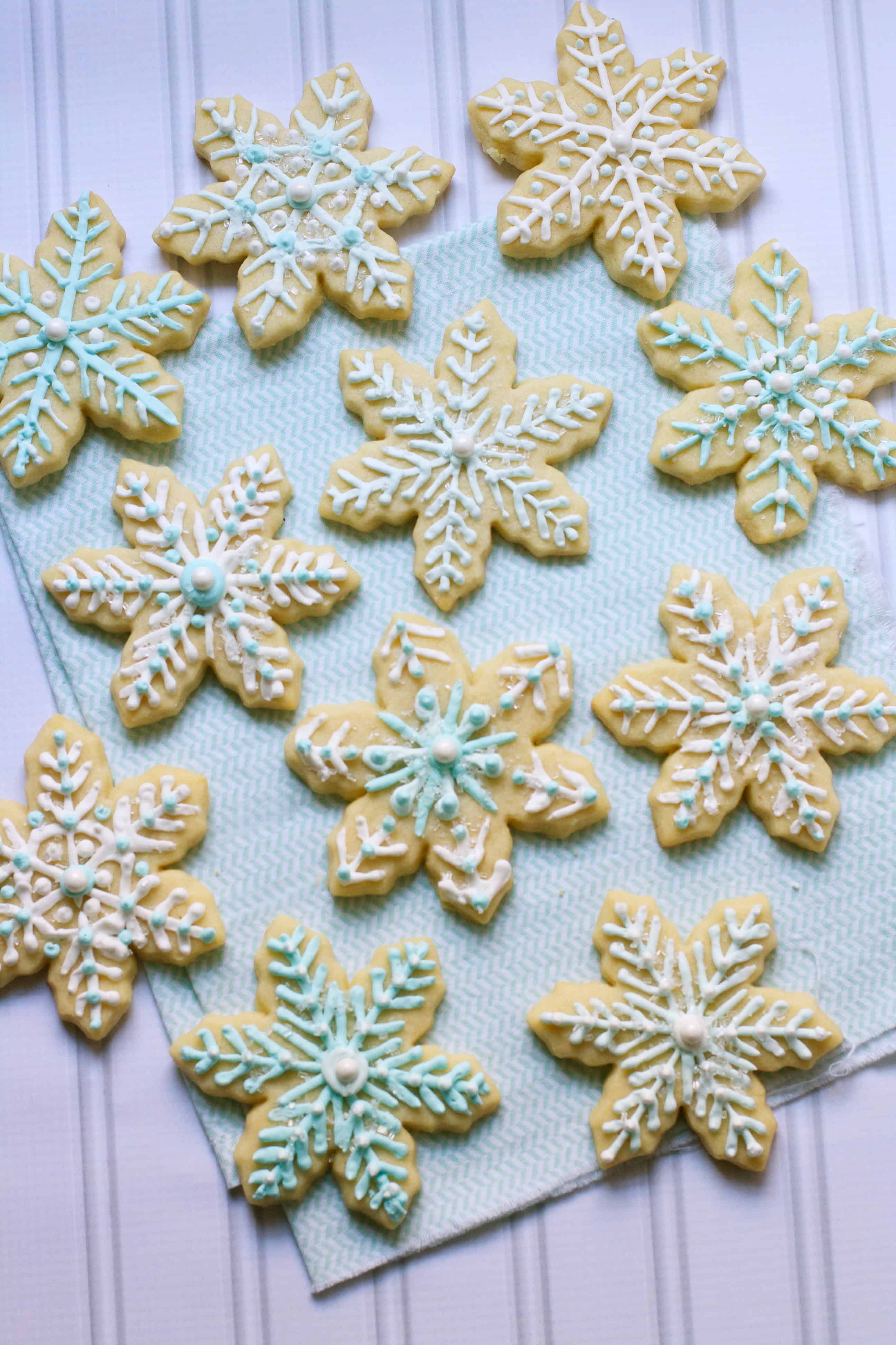Frosted Snowflake Sugar Cookies