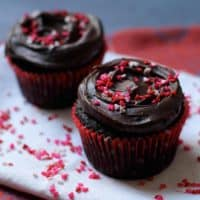 Fudgy Dark Chocolate Cupcakes for Two