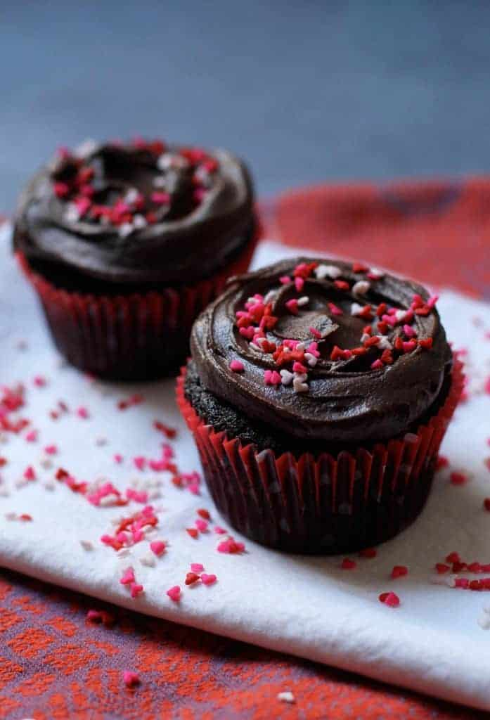 choc cupcakes for2