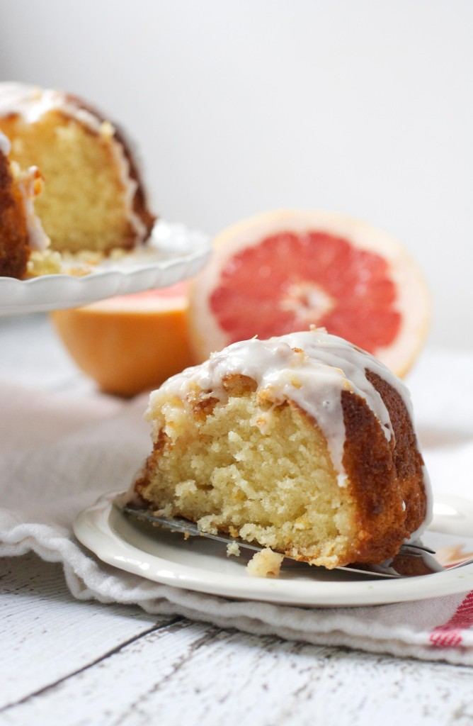 Glazed Grapefruit Bundt Cake