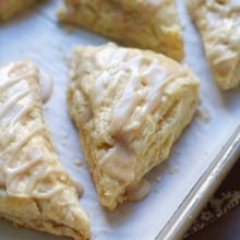 Glazed Vanilla Bean Scones