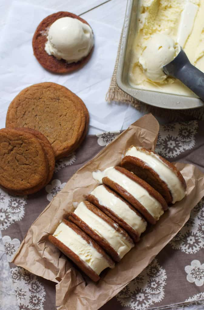 GingerVanillaIceCreamSammies