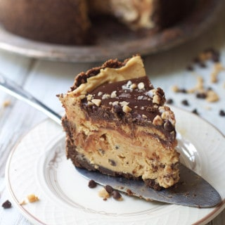 Sweet and Salty Peanut Butter Mousse Torte