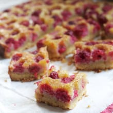 Raspberry Brown Butter Bars
