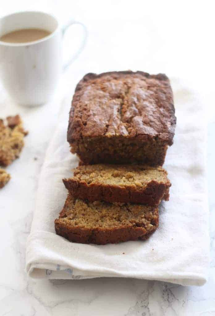 This is seriously the BEST Banana Bread ever! It comes together easily, has the perfect texture, and is super adaptable! It's everyone's fave and it's no wonder why! #bananabread #baking