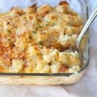 Cheesy Cauliflower Gratin with Bacon