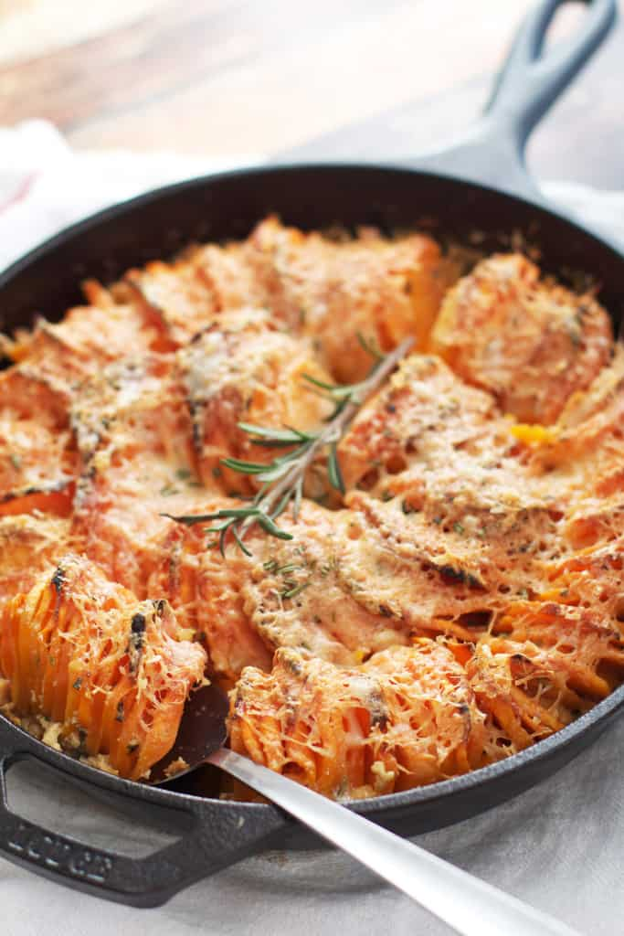 Scalloped Hasselbeck Sweet Potatoes