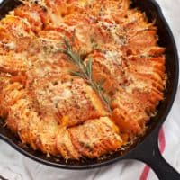 Hasselbeck Sweet Potato Gratin
