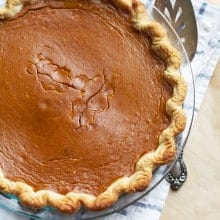 Brown Sugar Pumpkin Pie