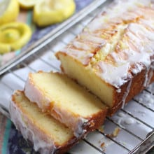 Lemon Greek Yogurt Pound Cake