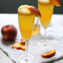 Vanilla Bean Peach Bellinis