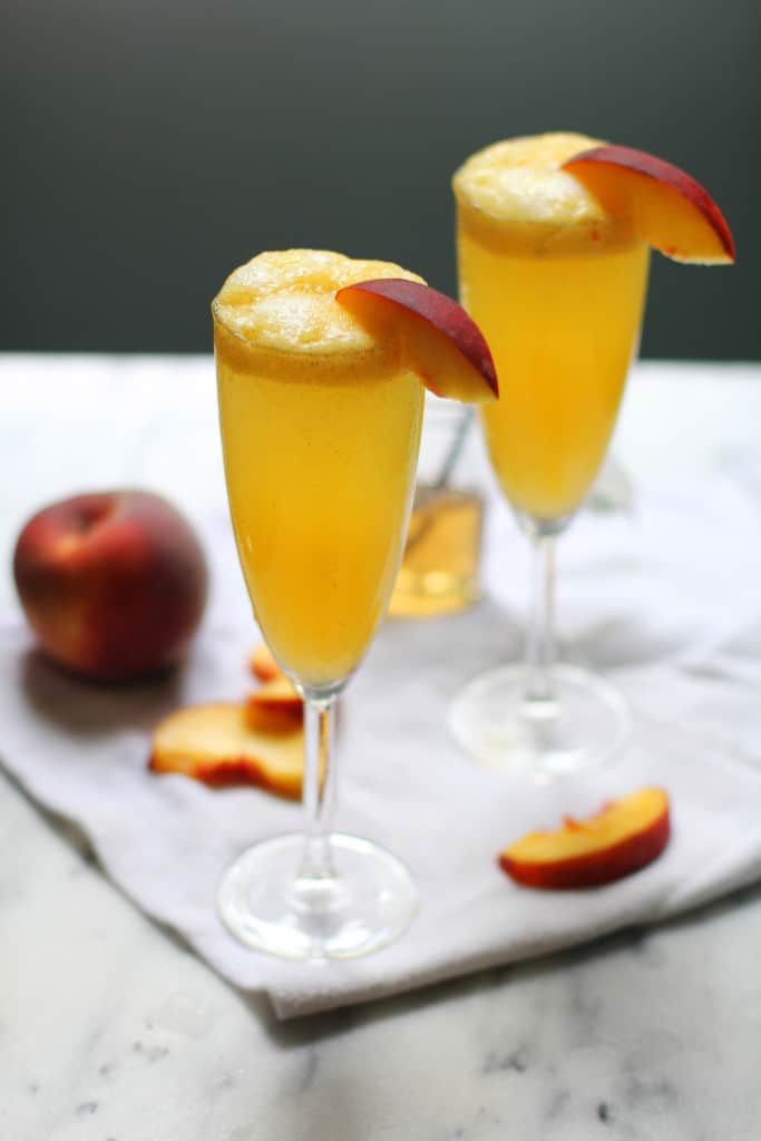 Vanilla Bean Peach Bellinis