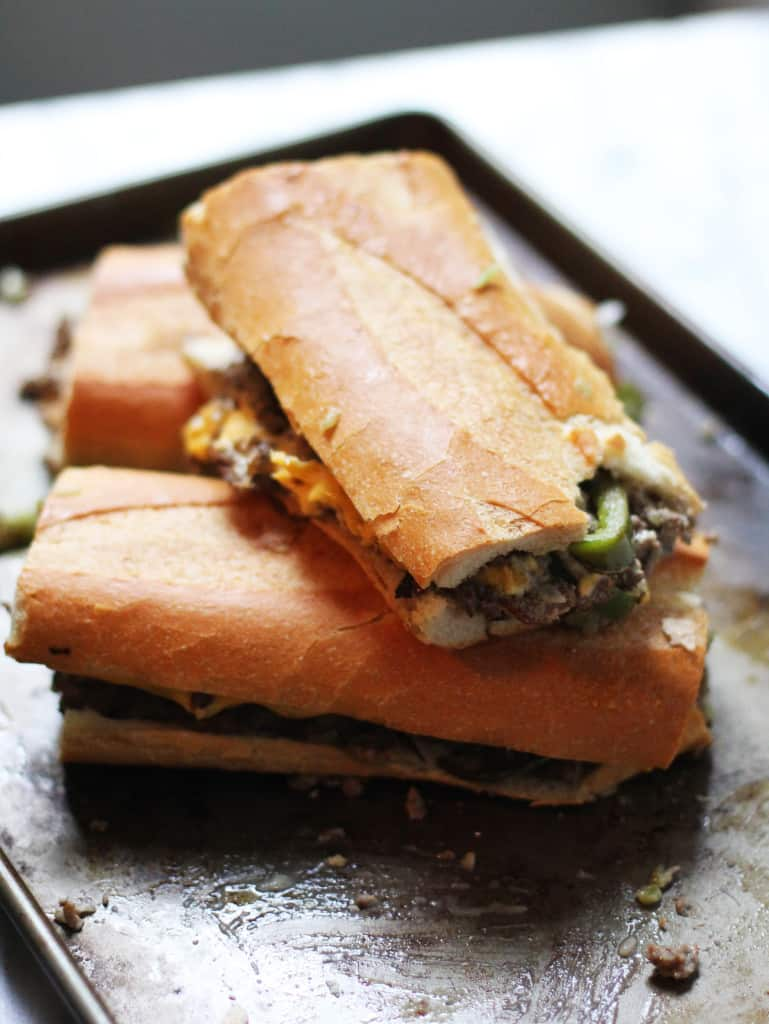 Lazy Girl's Philly Cheesesteak