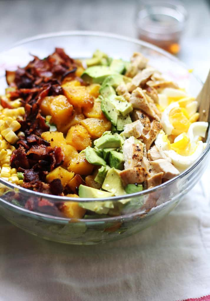 Harvest Cobb Salad with Maple Vinegarette