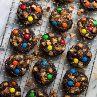 Dark Chocolate Candy Bar Cookies