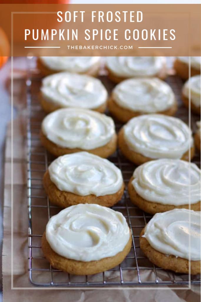 Soft Pumpkin Spice Cookies #pumpkinspice #fallbaking #thanksgiving