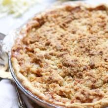 Cheddar Streusel Apple Pie