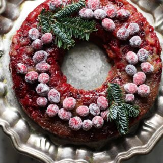 Cranberry Buttermilk Upside Down Cake