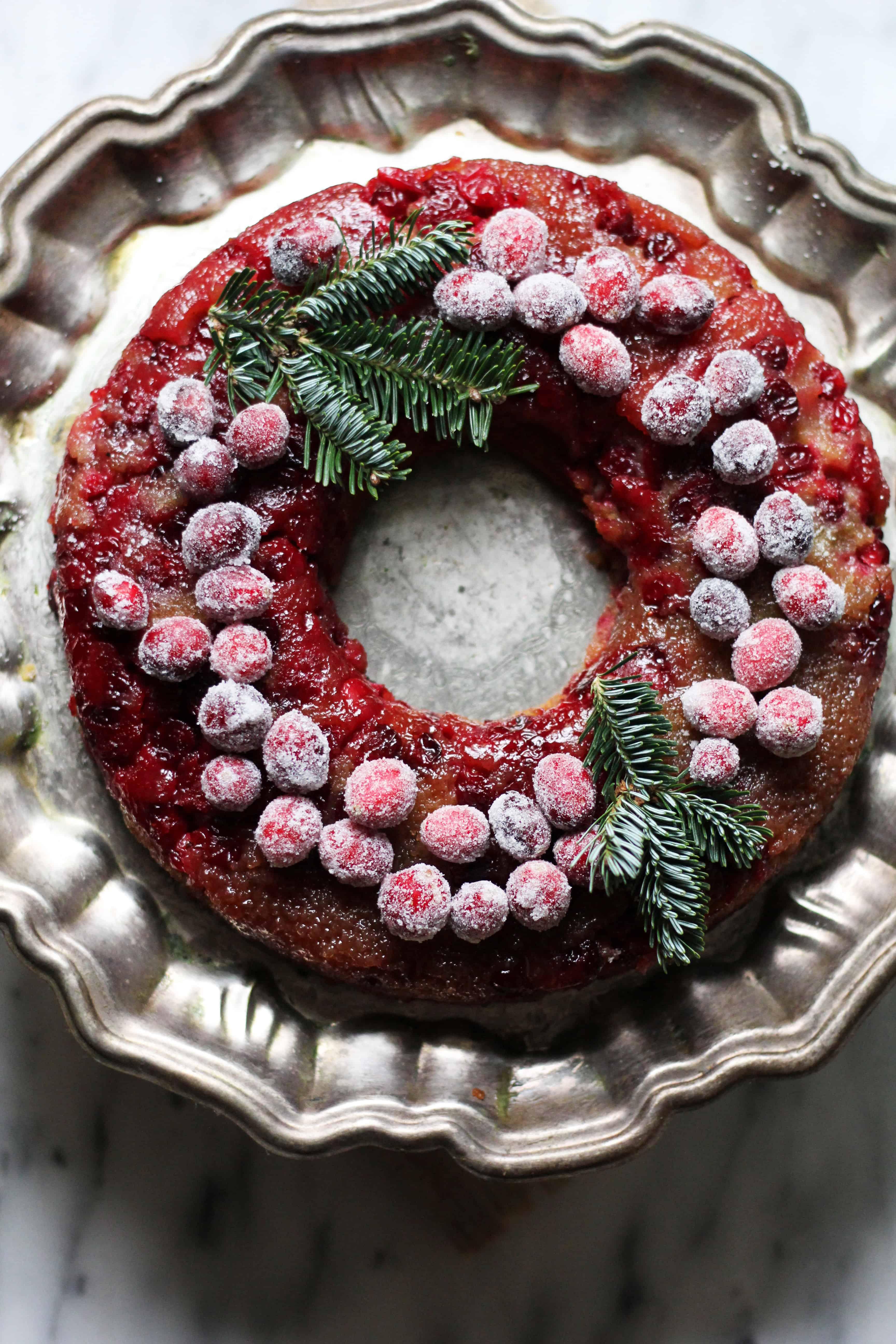 Thebakerchick   Cranberry Buttermilk Upside Down Cake