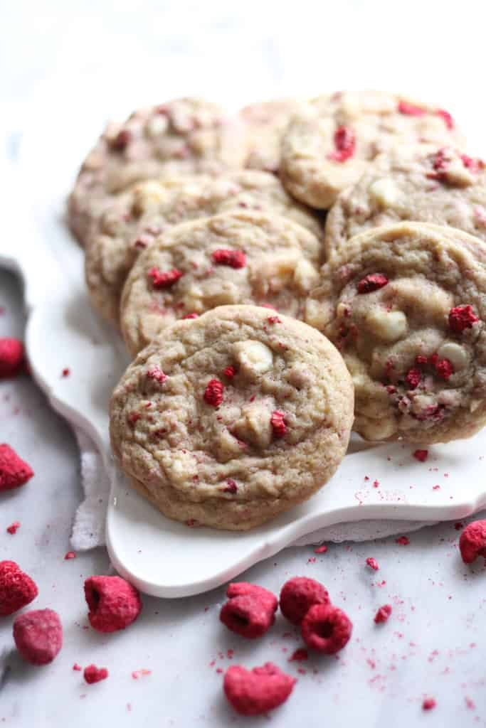 Lemon Raspberry White Chocolate Chip Cookies