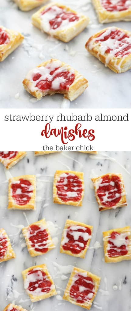 strawberry rhubarb almnd danishes