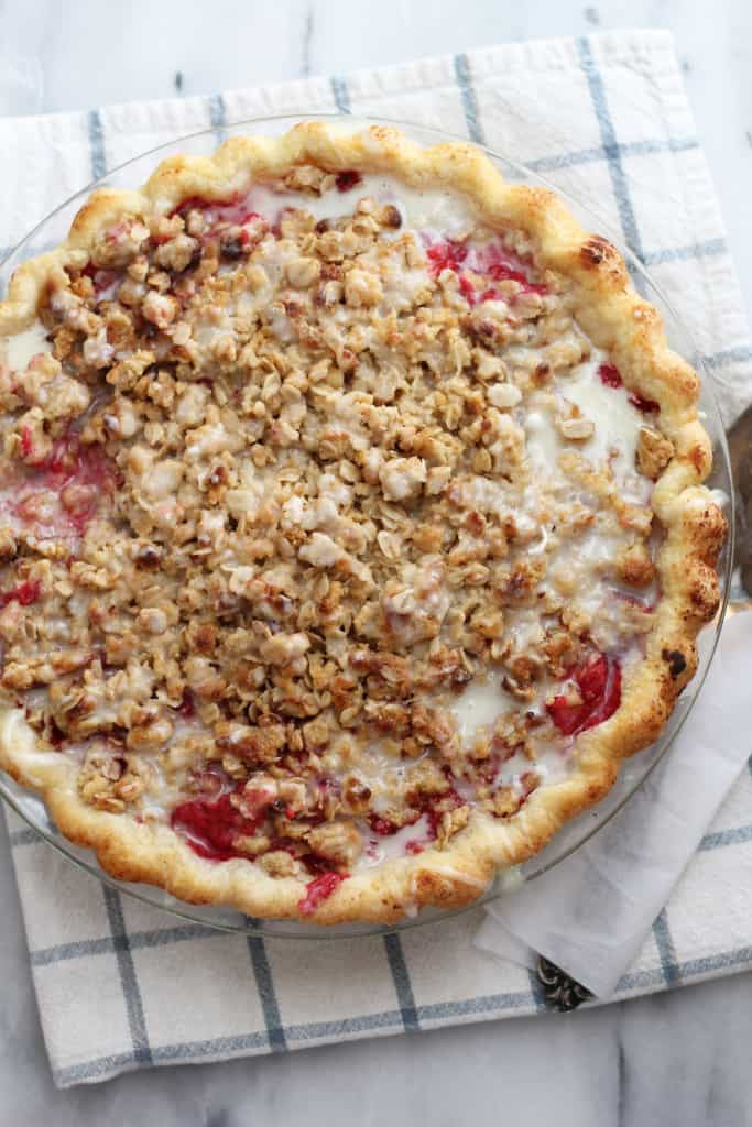 Raspberry Buttermilk Crumb Pie