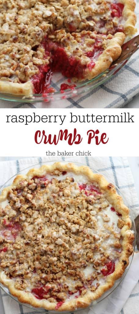 raspberry buttermilk crumb pie 2