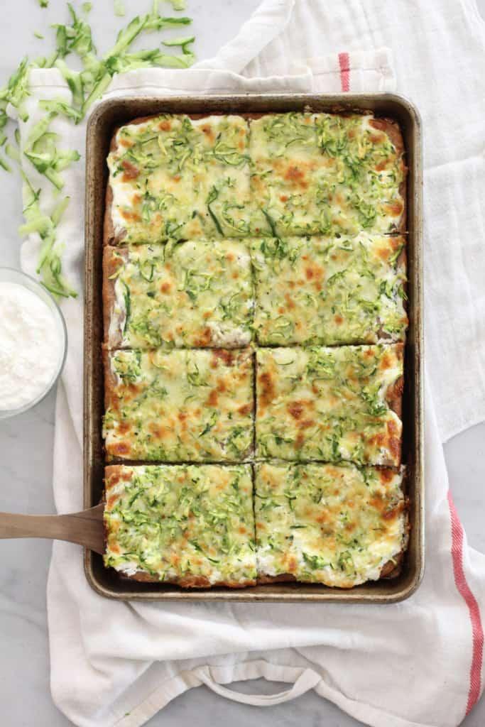 Cheesy Zucchini Pizza