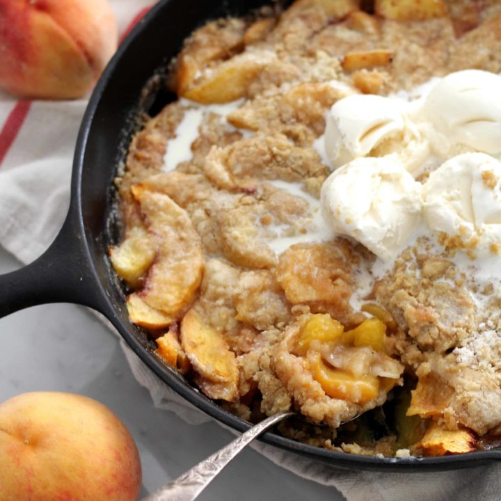 Peach Dump Cake (From Scratch!)
