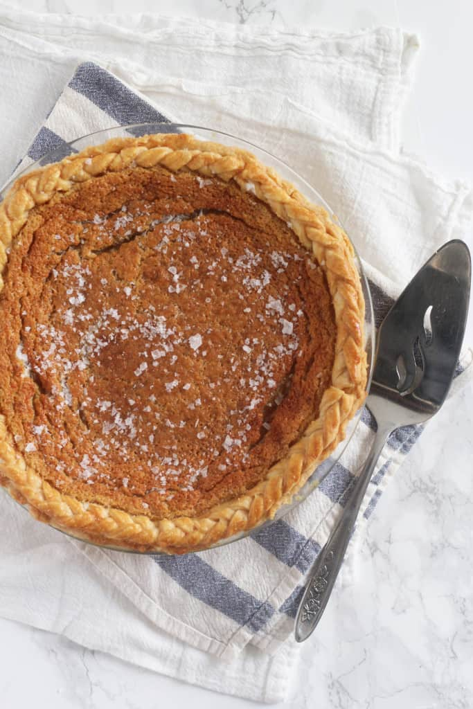 Salted Maple Chess Pie
